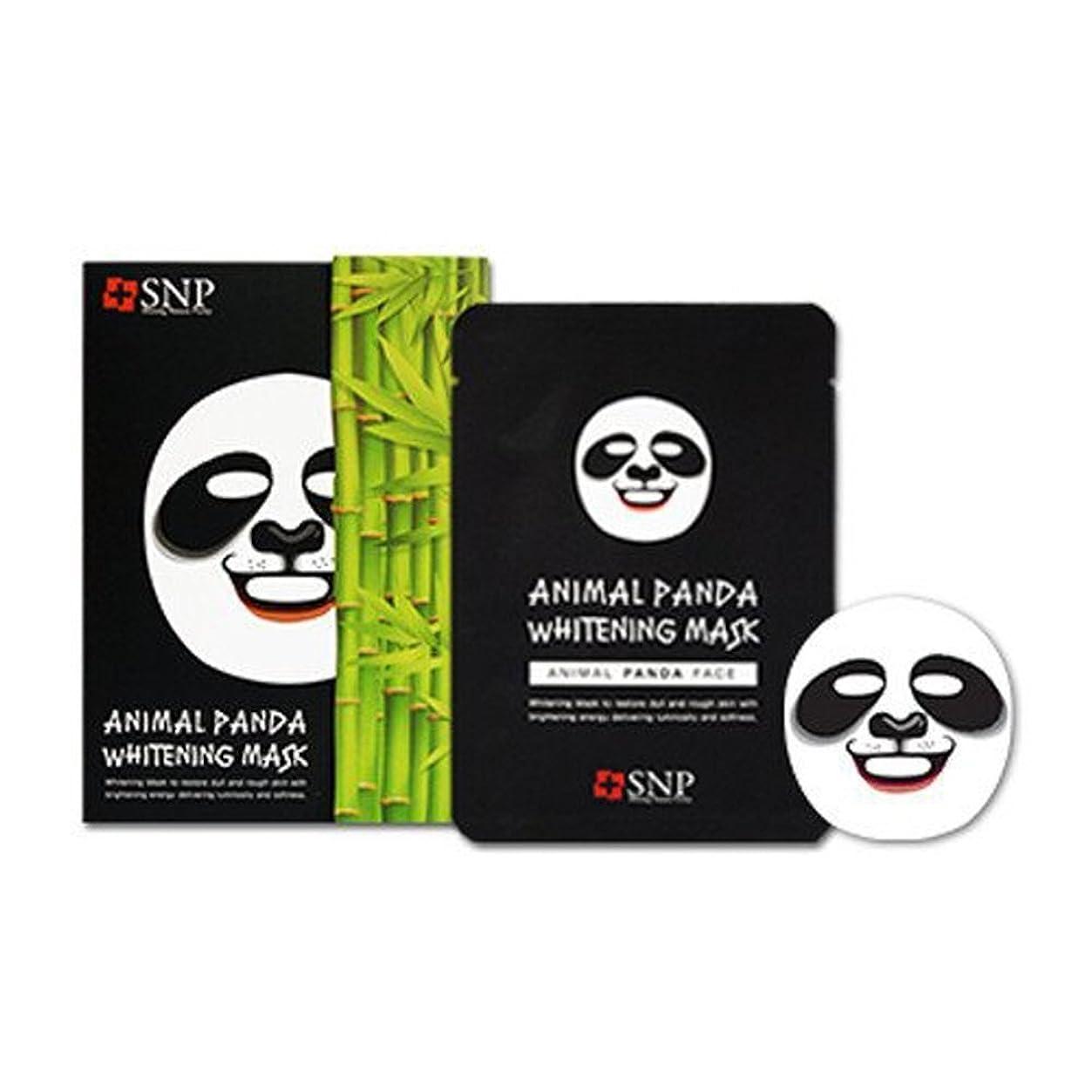 再開ライム彼自身SNP エスエンピ 動物マスクシート 10枚入り1box (Animal Mask 10 sheet) 海外直送品 (パンダ Panda)