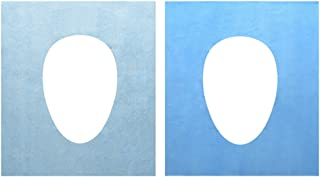 40PCS Water Proof Anti-Bacterial Disposable Paper Toilet Seat Covers Pocket Size Portable Travel Washroom Seat Cover Single Packed Public Restrooms Protectors,18.1x15.8 inch