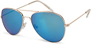 styleBREAKER Gafas de aviador para niños con marco de metal de acero inoxidable, con espejo o teñidas, Gafas de aviador, G...