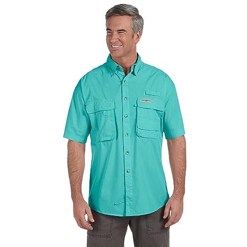375e40e7a Hook & Tackle® Men's Gulfstream   Short Sleeve   Vented   Performance  Fishing Shirt