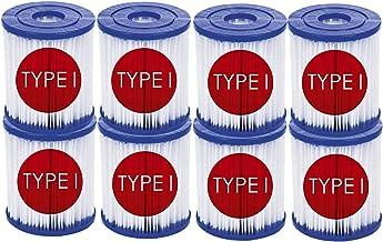 LIANHUAA Bestway - Cartucho de filtro de tamaño 1, para Bestway I, filtro de piscina para Bestway 58381 tipo I, cartucho de filtro de repuesto para bombas de piscina Bestway (8 unidades)