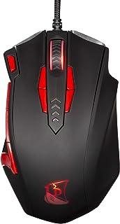Konix Interactive Konix Drakkar Progamer Valkyrie Mouse - Black/Red