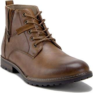 Men's 28920 Ankle High Zipper Motorcycle Riding Casual Chukka Dress Boots