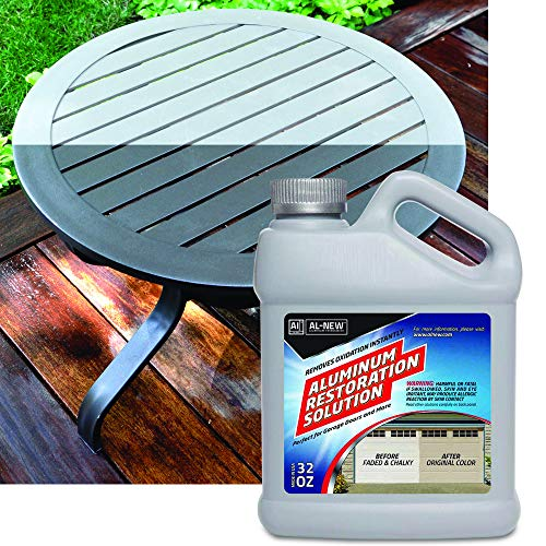 AL-NEW Aluminum Restoration Cleaning Solution | Clean & Restore Patio Furniture, Stainless Steel, and Other Household Metal Surfaces (32 oz.)