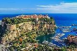 City On The Rock And Harbor Monaco Europe Home Decor Art