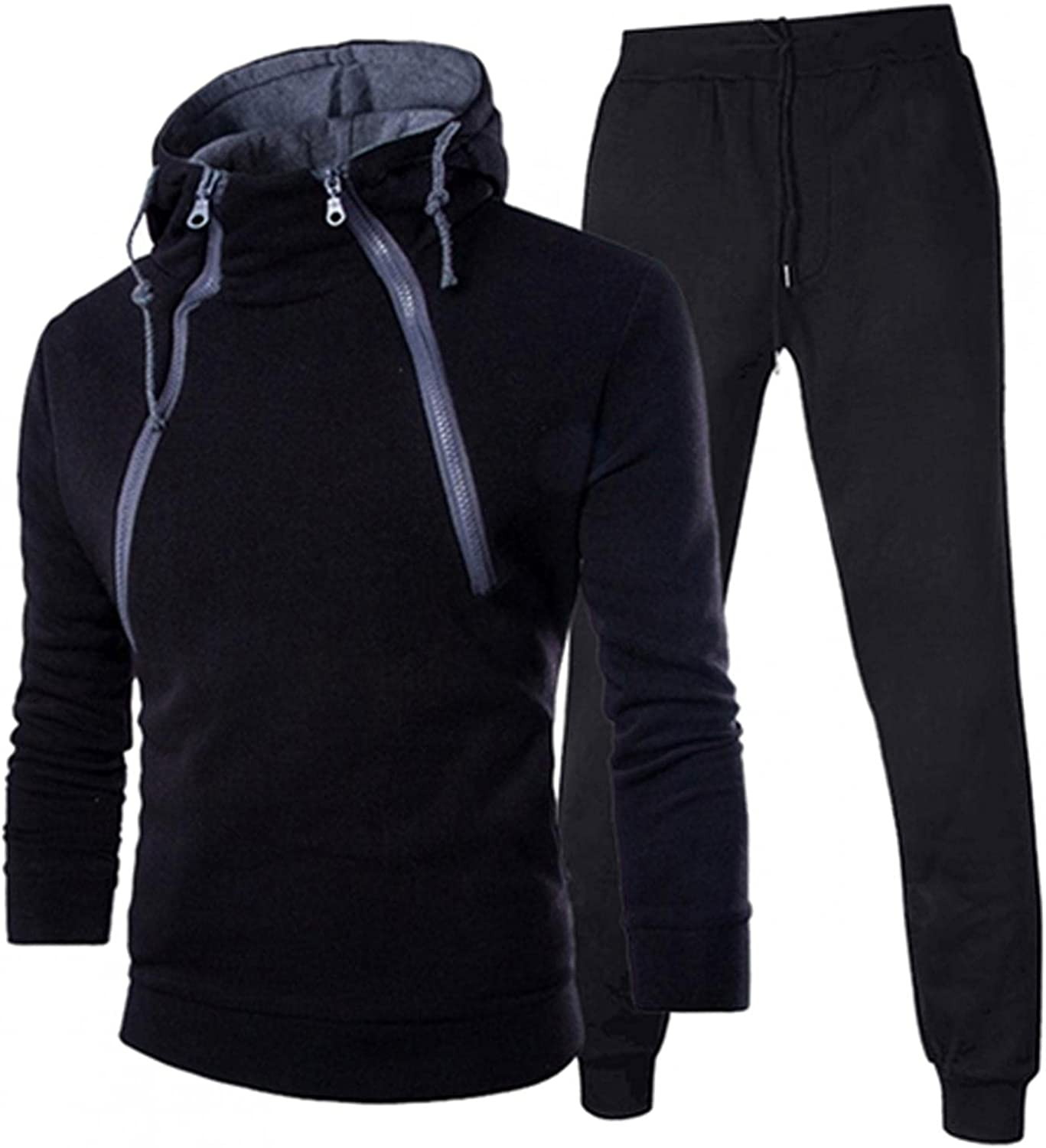 FUNEY Men's Hooded Athletic Tracksuit Zipp Excellence Fashion Double Low price Casual