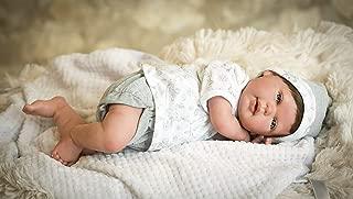 Ann Lauren Dolls Reborn Baby Doll with Blue Eyes and Hair