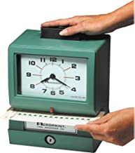 battery powered time punch clock