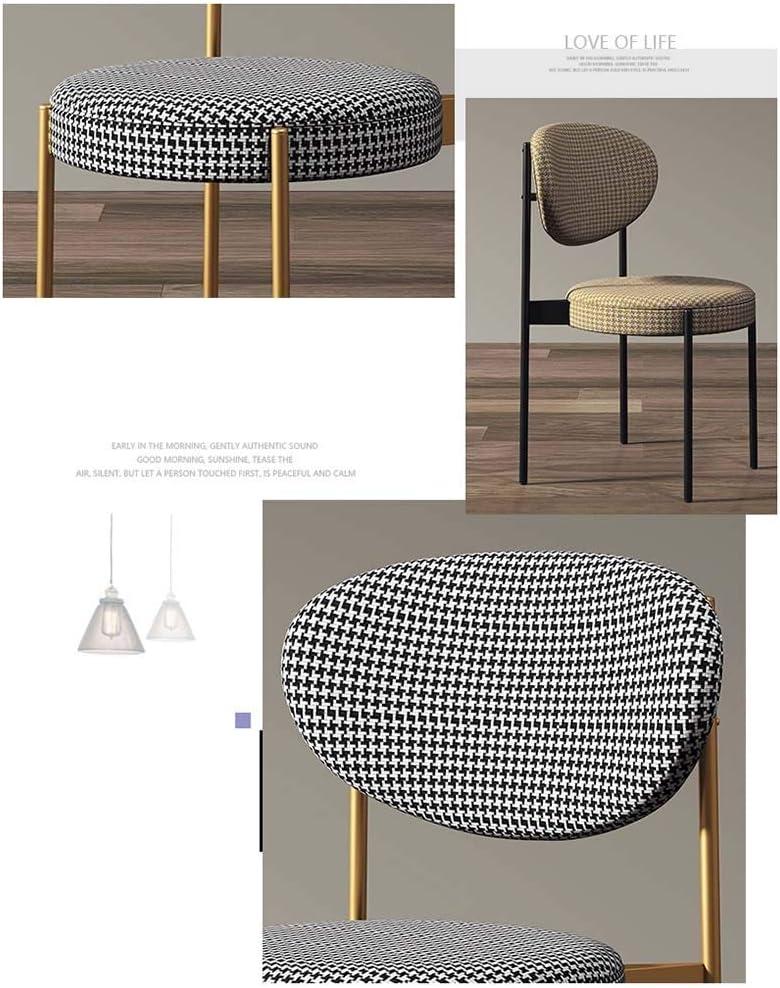 LJFYXZ Chaises Salle Manger avec Dossier Table et chaises de Cuisine Coussin en Tissu Chaise d'étude à Domicile Armature en métal Porteur 150kg 41x50x83cm (Color : Black) Black
