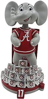 Forever Collectibles Alabama Crimson Tide 17-Time National Champions Anillos Mascota Bobblehead NCAA