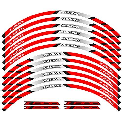 12 PCS Ajuste la Etiqueta de la Rueda de la Rueda de la Rueda de la Rueda de la Raya del Borde Reflectante para Todos para Kawasaki Z800 (Color : 7)