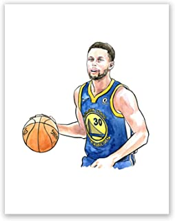 A50 Stephen Curry Poster // Art Picture // Basketball Sport Print Wall Art // Home Bedroom Wall Decor (11x14)