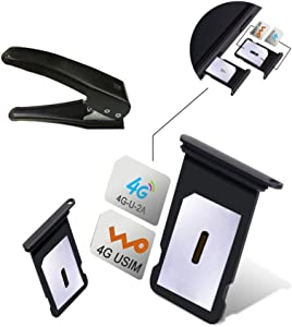 Dual SIM Card Adapter Sets for iPhone X 8 7 6S 6 Plus,GVKVGIH Switch 2 SIM Cards in 1 Phone Dual SIMs Single Standby Adapter