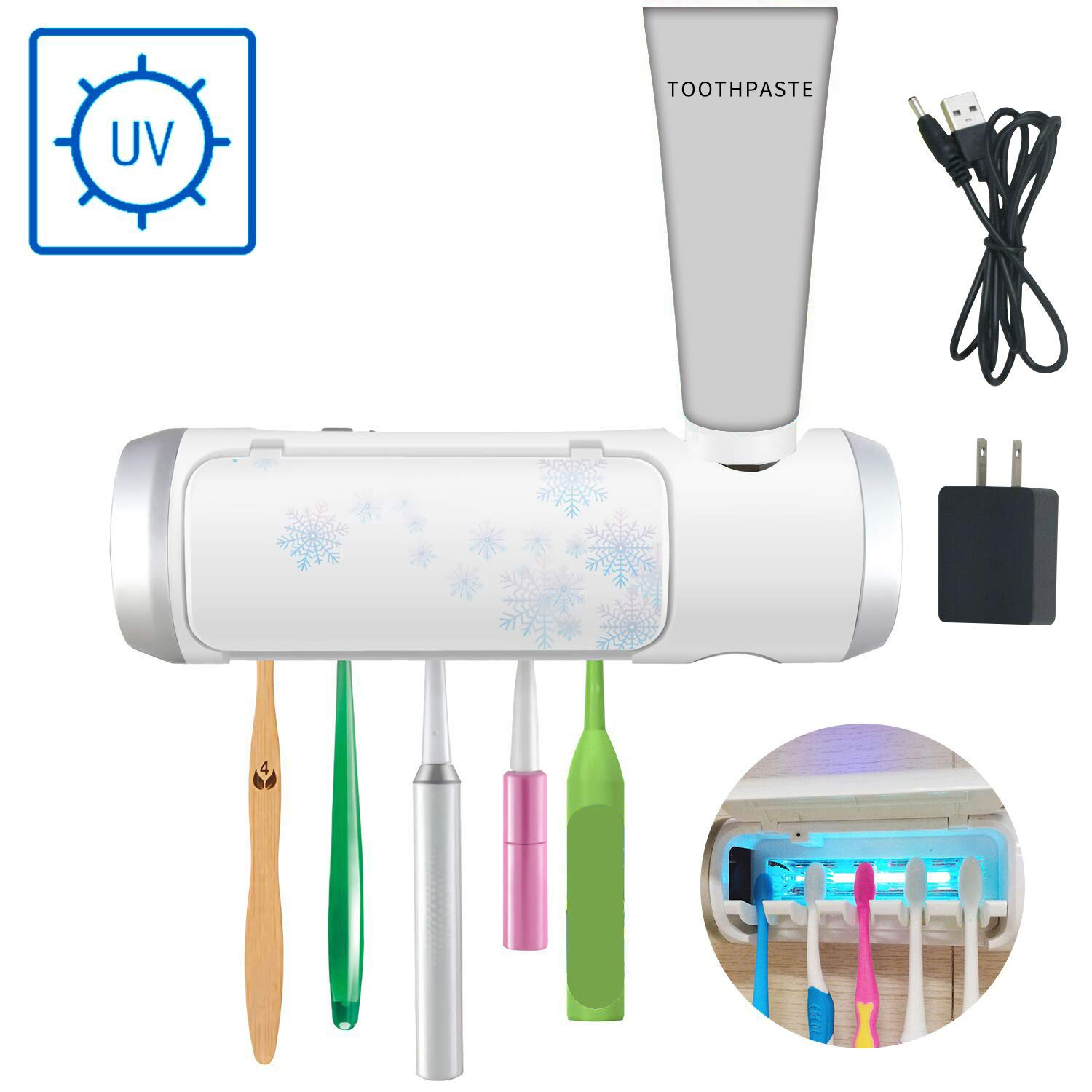 Toothbrush Sterilization Toothpaste Bathroom Toothbrushes