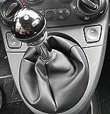 pomello cambio fiat 500 d'epoca  Fiat 500 dal 2006 cuffia leva cambio realizzata in vera pelle nera