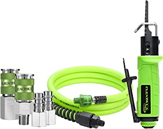 Flexzilla Pro Reciprocating Mini Air Saw Kit, with 3/8″ x 6′ Whip Hose w/Ball Swivel, and Flexzilla Pro High Flow Couplers and Plugs - AT8565FZ