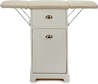 GIFTDECOR Mueble de Madera Planchar en Color Blanco, Ahorra Espacio (Tabla Sencilla)