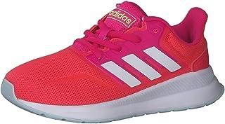 adidas RUNFALCON K, Zapatillas de Running Unisex niños, Shock Red/FTWR White/Shock Pink, 38 2/3 EU