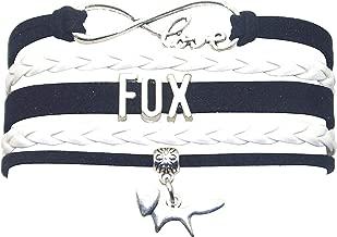 HHHbeauty Fox Bracelet Jewelry Leather Infinity Love Fox Gifts Fox Jewelry Bracelet Gifts for Women, Girls, Men, Boys, Fox Lover, Teen Girls Popular Infinity Love Charm, Fox Lover Gifts
