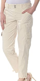 Sanctuary Womens Cropped Mid-Rise Cargo Pants Beige 28