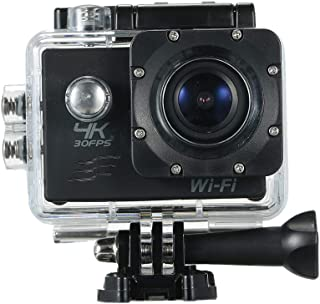 """Andoer Action Camera 4K 16M WiFi Sports Camera 170° Wide Angle Underwater 30M Waterproof Sports Camcorder with 2"""" LCD Rechargeable Mini Cam (Package 4)"""