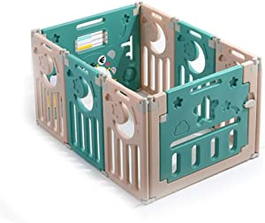 Children s Play Fence Indoor Baby Plastic Safe Home Crawling Toddler Baby Indoor Fence Playground  Color Green