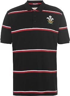 ウェールズ (Wales) ラグビー 半袖ポロシャツ ストライプ メンズ ファングッズ Rugby Polo Stripe Shirt Mens