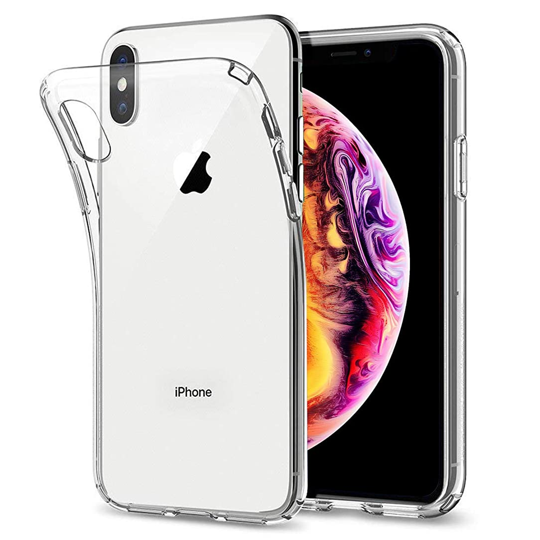 Airror Phone Case Compatible with iPhone Xs/iPhone X Cases Clear, Ultra Thin Clear Flexible Soft TPU, [ Support Wireless Charging ] Non-Slip, Protect Cover Clear Cases Slim Fit 243