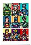 "Juniqe Superhelden & fiktive Charaktere Pop Art Poster 20x30cm - Design ""Super Pop"" entworfen von Van Orton Design"