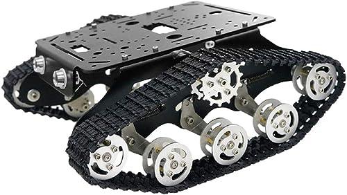 F Fityle Intelligentes Auto Chassis Roboter Plattform Auto fürgestell mit Zubeh für Arduino, ca. 270 x 255 x 110 mm - Schwarz12v