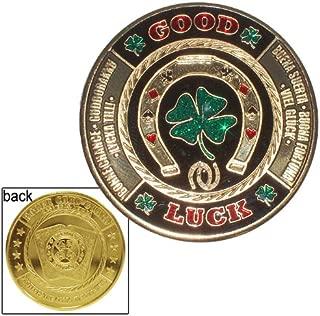 Da Vinci Hand Painted Poker Card Guard Protector - Good Luck