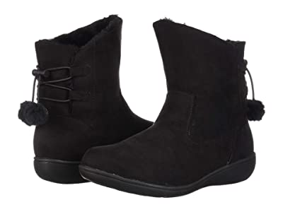 Soft Style Jazzy (Black Faux Suede) Women