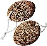 Piedra Pómez Natural, Junlic 2 Piezas Piedra Pómez en Cuidado de Pies Herramienta de Pedicura de...