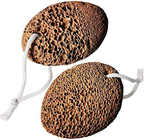 Piedra Pómez Natural, Junlic 2 Piezas Piedra Pómez en Cuidado de Pies Herramienta de Pedicura de Lava Cuidado de los Pies Exfoliante de Pies, Callos, Elimina la Piel Dura de Pies y Manos