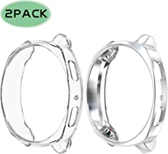 Haojavo 2 Pack Case for Samsung Gear Sport, Soft TPU Slim Fit Full Cover Protector Case for Samsung Gear Sport Smartwatch Bands Accessories