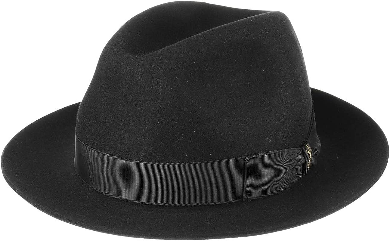 Borsalino 50 Grams Men´s Fedora Hat Women Made in Men Columbus Mall Italy - Excellent