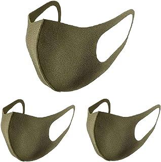 リコピンマスク(RIKOPIN MASK) マスク 洗えるマスク ウレタンマスク[カーキ KHAKI ]レギュラーサイズ 3枚入 1パック 個包装 花粉 UVカット