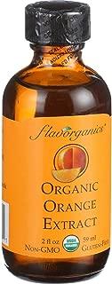 Flavorganic Organic Orange Extract,Glass Bottles, 2 oz