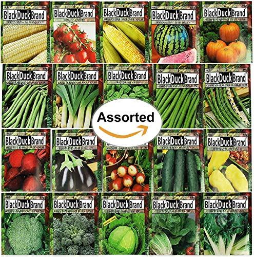 Set of 20 of Our Favorite Premium Variety Vegetable Seeds 10 Or More Varieties - Deluxe Garden...