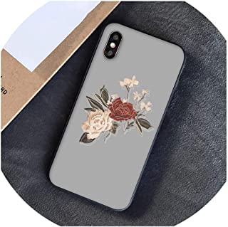 Flower Ball Red Yellow Rose Sunflower Art Aesthetic Phone Case for iPhone 8 7 6 6S Plus 5S SE XR X XS MAX-in Half,for iPhone 6s Plus,A4