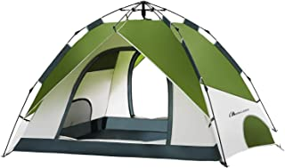 Moon Lence テント 3-4人用 ワンタッチテント アウトドア用 二重層 設営簡単 コンパクト 耐水圧2000mm 通気性に優れ 防風防水 ハイキング キャンプ 防災