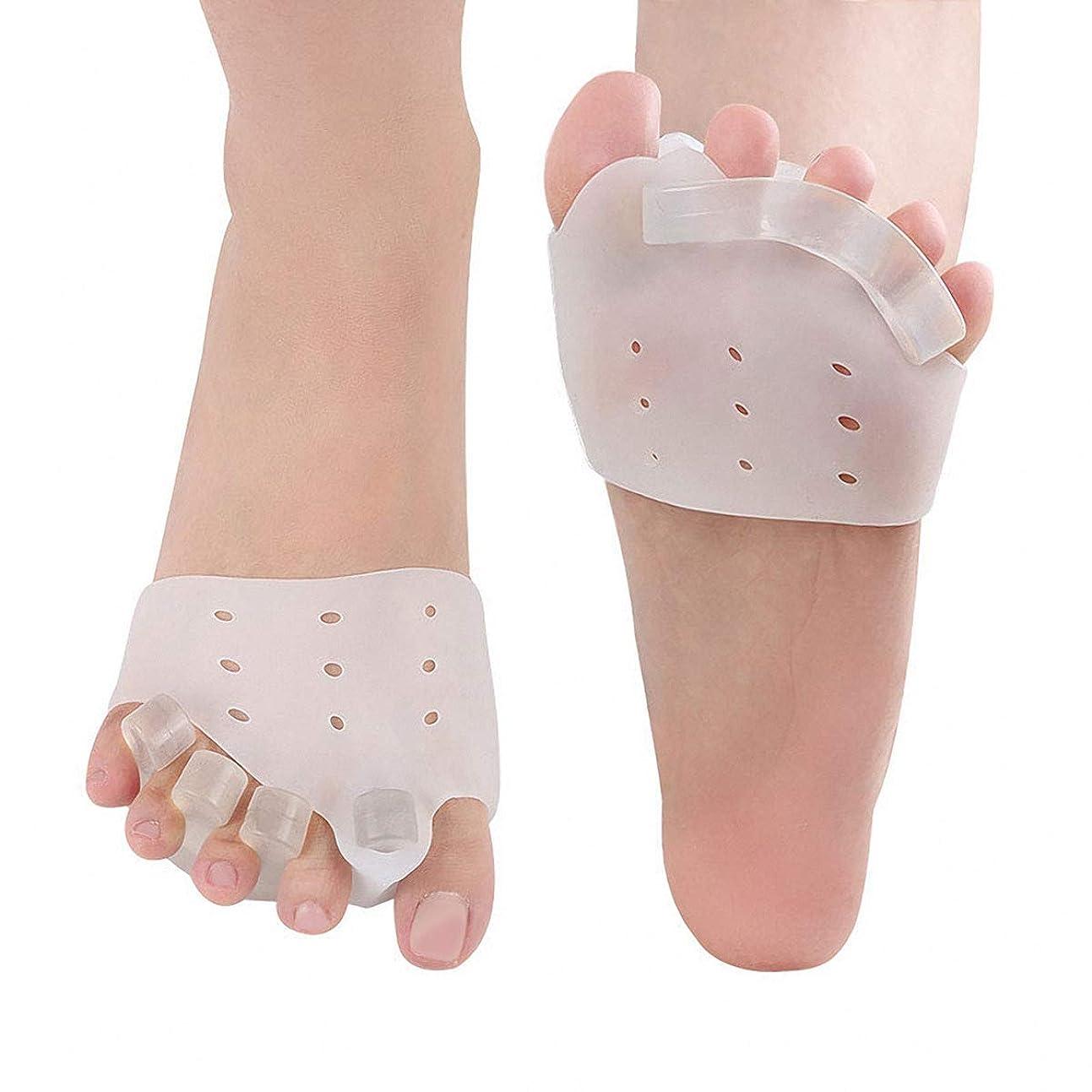 後世何もない解決する足指パッド セパレーター 矯正 足指を広げる 外反母趾矯正 内反小趾 サポーター 足指矯正パッド 足指分離 足指 シリコンパッド 足用保護パッド 足の痛みを軽減 男女兼用 左右兼用 (左右セット)
