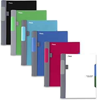 """Five Star Advance Spiral Notebooks, 2 Subject, College Ruled Paper, 100 Sheets, 9-1/2"""" x 6"""", Assorted Colors, 6 Pack (38642)"""