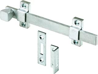 Prime-Line MP4914 Surface Bolt, 8 In, Steel, Brushed Chrome Finish, Heavy Duty Construction, 1 Set