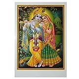 Bild Radha & Krishna 50 x 70 cm Gottheit Hinduismus