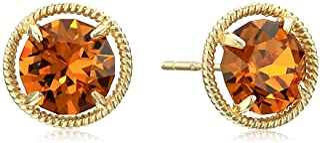 10k Gold Birthstone Stud Earrings made with Swarovski Zirconia
