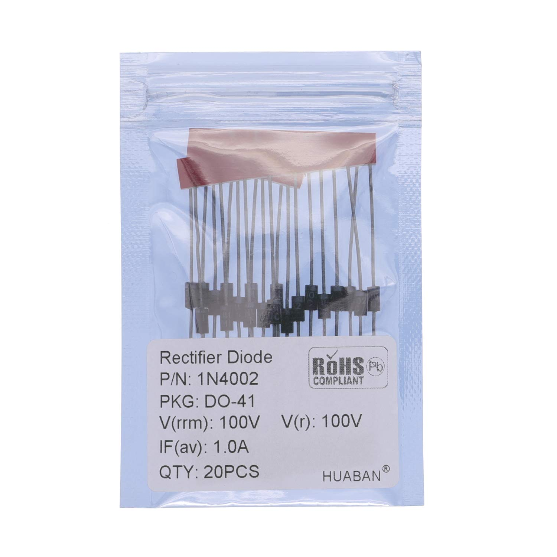 DO-204AL Axial 4001 1 Amp 50 Volt 100PCS 1N4001 Rectifier Diode 1A 50V DO-41