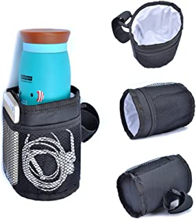 Pawaca Multifunctional Waterproof Thermal Insulated Bottle Holder Pocket Organizer for Baby Strollers, Shopping Carts, Wheelchairs, Bikes