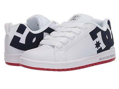 DC Kids Court Graffik (Little Kid/Big Kid) (White/Blue/Red) Boys Shoes