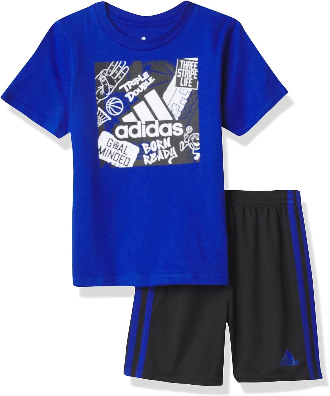 adidas Boys' Graphic Short Max 84% OFF Milwaukee Mall Set Te